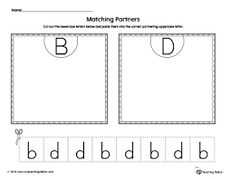 B And D Worksheets B D Letter Reversal Match To Uppercase Worksheet