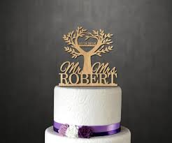 life tree wood cake topper wooden cake topper with name date cake