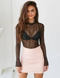 pretty blouses 13 best pretty black sheer blouse images on black