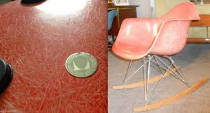 Eames Fiberglass Rocking Chair Eames Salmon Orange Rocker Fiberglass Arm Medallion Herman Miller