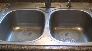 Drano Kitchen Sink by Easy Way To Clean A Stainless Steel Sink Youtube