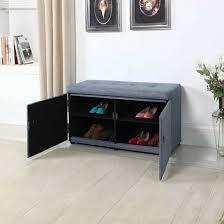 Blue Storage Ottoman Shoe Storage Ottoman 18