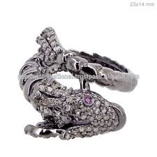 dragon jewelry rings images 925 sterling silver animal jewelry natural diamond dragon ring jpg