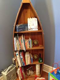 Canoe Shaped Bookshelf Wood Canoe Boat Shelves These Are 11 Boat Bookcase Designs Ideas