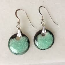 green earrings beautiful made sea grass green earrings made in scotland