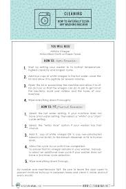 how to naturally clean any washing machine free printable