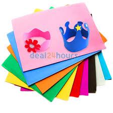 10x assorted colours eva fun foam a4 paper craft sheets art