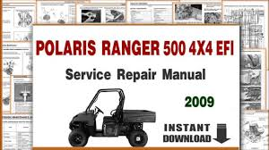 polaris ranger 500 4x4 efi service repair manual 2009 youtube