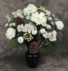 Artificial Flower Arrangement In Vase Winter Bright Vase Kremp Com