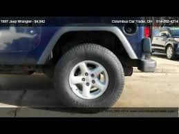 used jeep wrangler for sale 5000 1997 jeep wrangler se for sale in columbus oh 43214