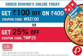 dominos black friday deals domino u0027s pizza offers two different coupons get rs 100 off on