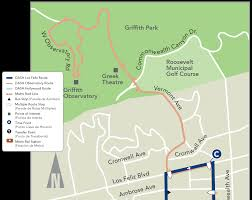 Griffith Park Map Dash Los Feliz Ladot Transit Services