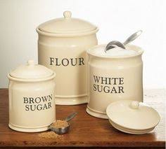 store pantry staples such as flour sugar and tea in this set of 3