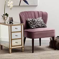 Armless Accent Chair Channeled Back Armless Accent Chair In Luxor Lilac Jcpenney