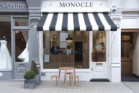 Cafe Awning Monocle Opens Cafe In London White Spaces