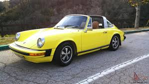 porsche targa 80s yellow porsche 911 targa original paint dry az with 3lengine