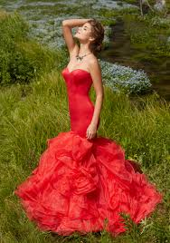 mermaid prom dress with ruffled organza skirt style 99011 morilee