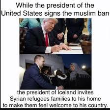 Iceland Meme - syrian families visit the presidential residency in bessastadir
