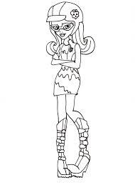 free printable monster high coloring pages ghoulia coloring sheet