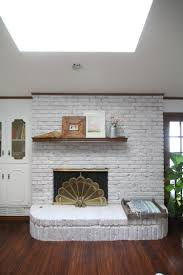 how to whitewash a brick fireplace run to radiance