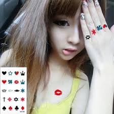 finger tattoo stickers waterproof temporary tattoo sticker finger tattoo for girl women