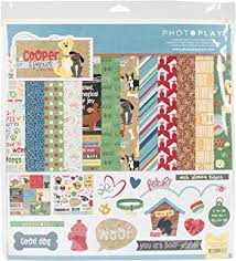 Dog Scrapbook Album Amazon Com Woof Woof Dog Scrapbook Kit By Paper Boutique