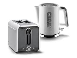 Next Kettle And Toaster White Grey Black Polished Trim Studio By Dualit 2 Slot Toaster