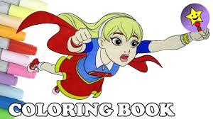 dc super hero girls supergirl coloring book dc superhero