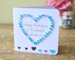 card for husband husband birthday card handmade personalised birthday card for