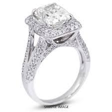 semi mount engagement rings 18k white gold split twist shank semi mount engagement ring with