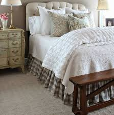 buffalo check bed skirt country bed skirts plaid bed skirt