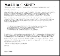 information security analyst cover letter sample livecareer
