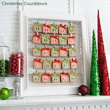 christmas countdown calendar creative christmas countdown calendar with candy picturesque