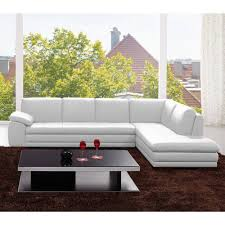 White Italian Leather Sectional Sofa 625 Italian Leather Sectional Sofa White J M Furniture Modern