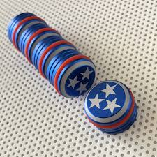 Tennesse Flag Slb Original Tennessee Tristar 5 Magnet Gift Tin Strong Like