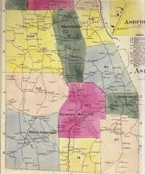 Map Of Connecticut Towns Usgenweb Ashford Ct