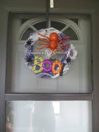 Halloween Spider Wreath by Ready To Ship Boo Grapevine Wreath Halloween Wreath Front Door