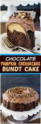 chocolate pumpkin cheesecake bundt cake inside brucrew life