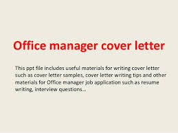 sample cover letter for office manager cover letter college