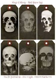 free for halloween skull illusion tags u2013 edwardian printables u2013 wings of whimsy