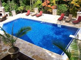 contemporary garden leisure pools ground poiol with deck d