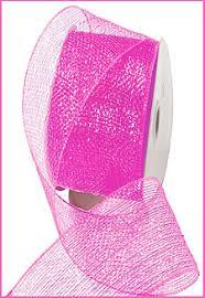 wide mesh ribbon deco poly mesh ribbon metallic pink 2 5 inch wide buy now