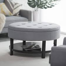 amazon com belham living coffee table storage ottoman with shelf