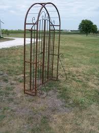 wrought iron 6 u0027 arbor gate combo vintage garden arch
