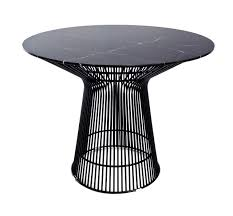 replica warren platner wire dining table black powdercoated