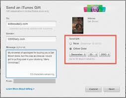 send a gift send books media as gifts from itunes on a mac or pc
