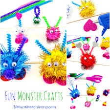 friendly monster crafts preschoolers will love natural beach living