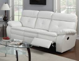 Leather White Sofa White Leather Reclining Sectional Sofa Centerfieldbar Com