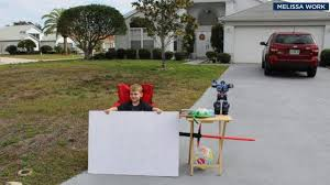 his and items florida boy sets up free stand gives away his favorite