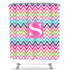chevron ikat personalized shower curtain monogrammed shower
